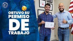 Andrés obtuvo ya su permiso de trabajo