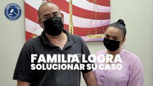 Familia logra solucionar su caso