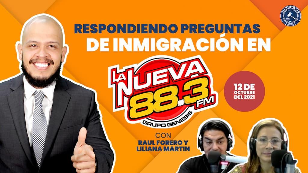 """Entrevista en """"La Nueva 88.3 FM"""". Martes 12 de Octubre 2021."""